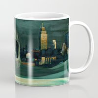oil Mugs featuring Civilizations Oil Painting by Thubakabra