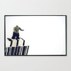 Stuck In a Hard Place | Bar Code Canvas Print
