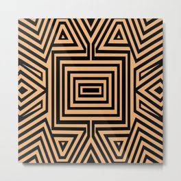 African Geometric Tribal Pattern 2 Metal Print