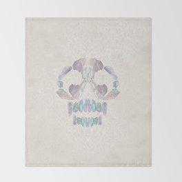 Aurora Quartz Skull Throw Blanket