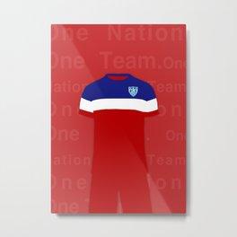One Nation. One Team.  Metal Print