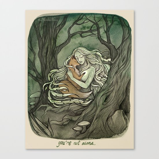You're not alone Canvas Print