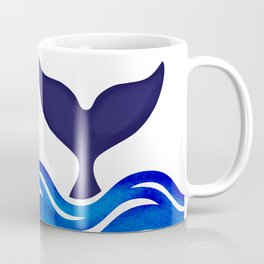 Blue Whale Tail Coffee Mug