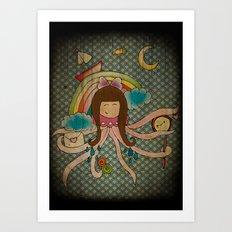 I'm A Little Octopus Art Print