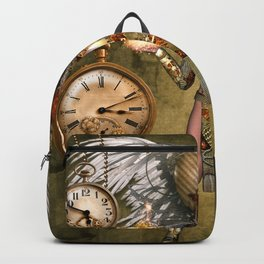 Steampunk lady with wings Backpack