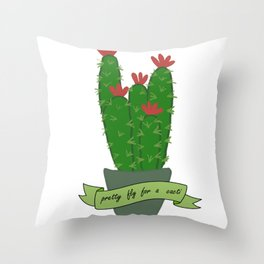 Pretty fly for a cacti Throw Pillow
