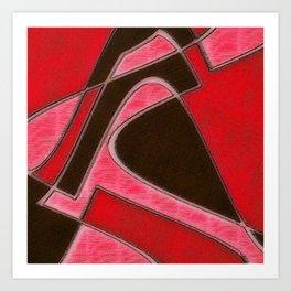 Red Denim Sampler Art Print