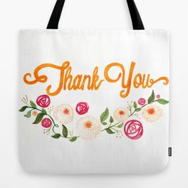 Floral Thanks Tote Bag