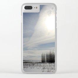 big prairie sky Clear iPhone Case