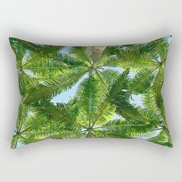 Summer Under the Palm Leaves Rectangular Pillow