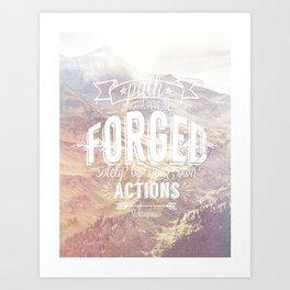 forged path Art Print