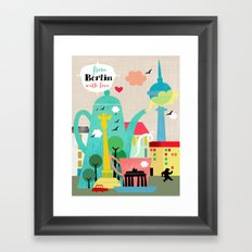 From Berlin with Love Framed Art Print