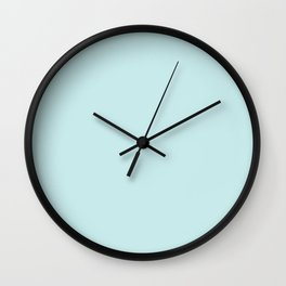 Classic Duck Egg Pale Aqua Blue Wall Clock