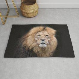 Closeup Portrait of a Male Lion Rug