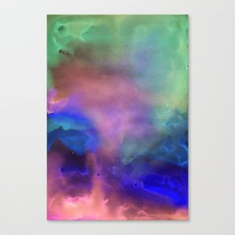 Northern lights abstract print Canvas Print