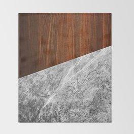 Wooden Marble Throw Blanket