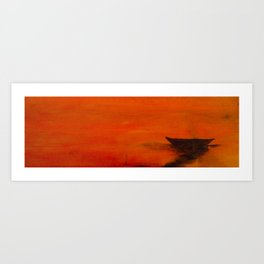 Barco entre naranjas Art Print