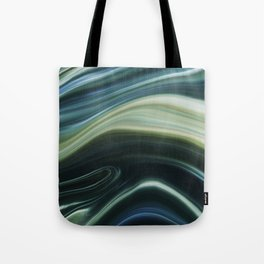 Green and Blue Marble Swirl Design Tote Bag