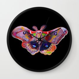 Glowy Moth Wall Clock