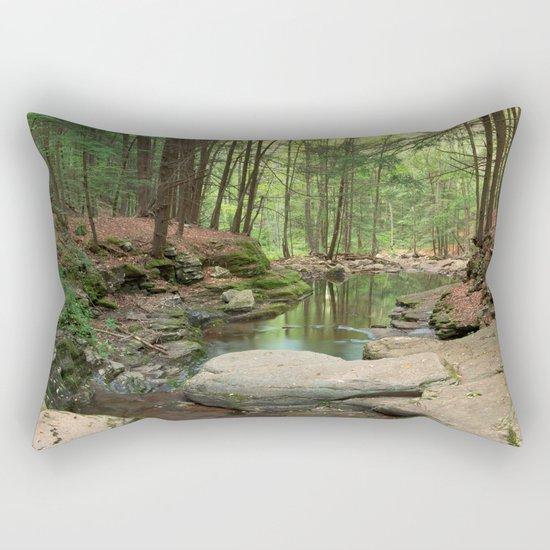Worlds End Forest Stream Rectangular Pillow