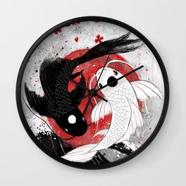 Koi fish - Yin Yang Wall Clock