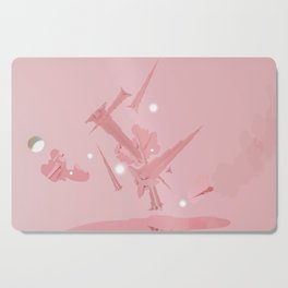 Voyage in Pink Cutting Board
