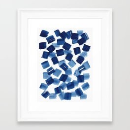 Indigo Brush Strokes | No.1 Framed Art Print