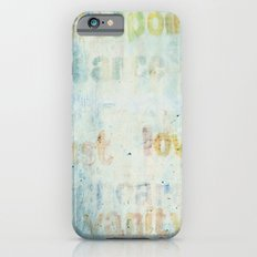 words Slim Case iPhone 6s