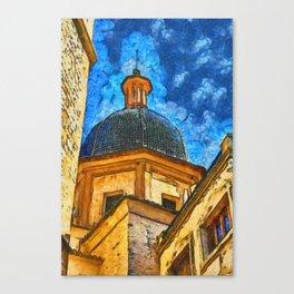 Church in Burriana Canvas Print