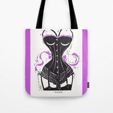 Corset Stockings and Bows Tote Bag