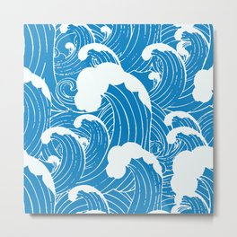 waves after waves Metal Print