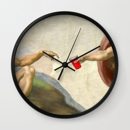 Sistine of Beer Pong Wall Clock