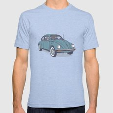 VW Beetle X-LARGE Tri-Blue Mens Fitted Tee