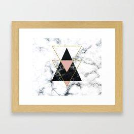 Geo glam marble Framed Art Print