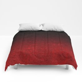 Red & Black Glitter Gradient Comforters