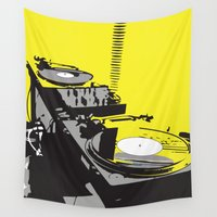 vinyl Wall Tapestries featuring Vinyl by Akehworks