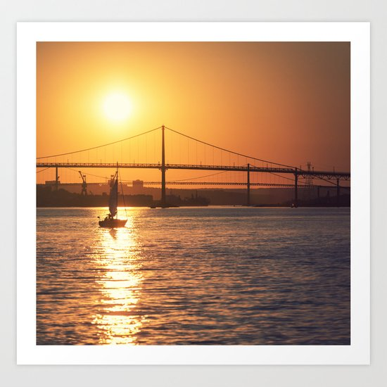 Silhouetted in the Sun Art Print