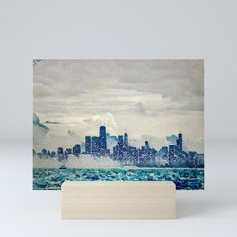 Blue Wave Chicago Mini Art Print