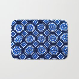 Patterned Up in Blue Bath Mat