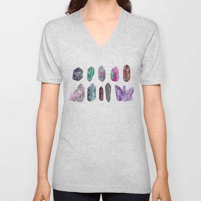 gemstones Unisex V-Neck