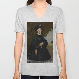 Édouard Manet - Portrait of Madame Brunet Unisex V-Neck