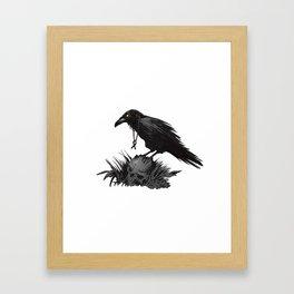 Death Poetry Framed Art Print