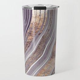 Tribeca Rose Gold Abstract Travel Mug