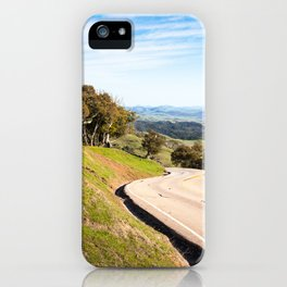 Winding road near Hearst Castle iPhone Case