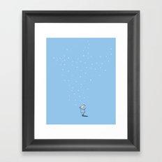 The snow descending Framed Art Print