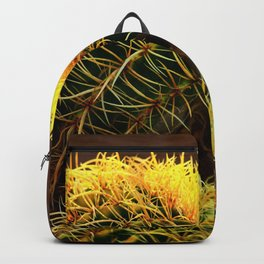 Golden Ball Cactus in Early Morning Light Backpack