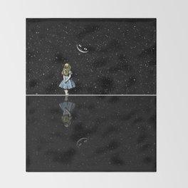 Alice In Wonderland Starry Night Throw Blanket