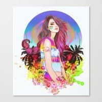 scorpio Canvas Prints featuring Scorpio by Sara Eshak