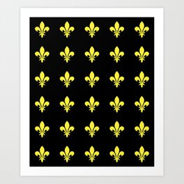 Fleur de lys 4-lis,lily,monarchy,king,queen,monarquia. Art Print