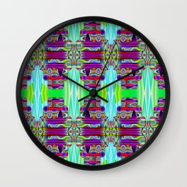 Multi-colors-pattern Wall Clock